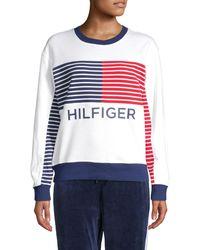 Tommy Hilfiger Flag-print Fleece Sweatshirt - White