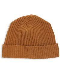 Portolano Cashmere Solid Hat - Grey