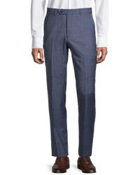 Tommy Hilfiger Men's Modern-fit Wool-blend Suit Separates Trousers - Blue - Size 33 30