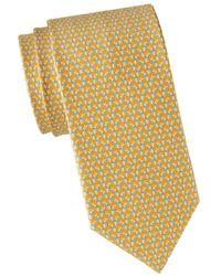 Ferragamo Rabbit Silk Tie - Yellow