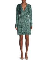 Equipment Women's Rommily Printed Empire-waist Dress - Jade - Size 0 - Green
