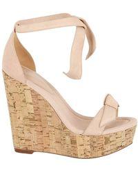 Alexandre Birman Clarita Platform Wedge Sandals - Natural