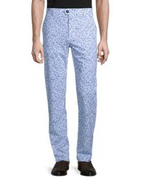 Greyson Men's Angel Tears Printed Trousers - Arctic - Size 32 36 - Blue