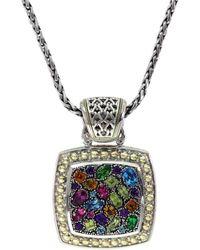 Effy Women's 18k Yellow Gold, Sterling Silver & Multi-stone Pendant Necklace - Metallic