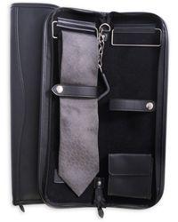 Bey-berk Leather Travel Tie Case - Black