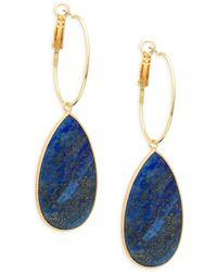 Panacea - Lapis Lazuli Teardrop Earrings - Lyst
