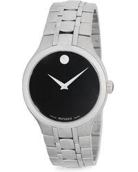 Movado - Museum Stainless Steel Bracelet Watch - Lyst