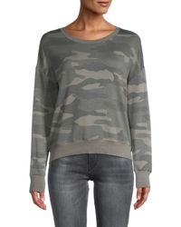 Splendid Women's Camo-print Sweater - Gray Camo - Size L