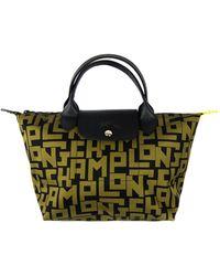 Longchamp Medium Le Pliage Lgp Logo Top-handle Bag - Multicolour