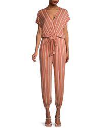 Dress Forum Striped Dolman-sleeve Jumpsuit - Grey