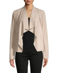 Bagatelle Draped Open Front Jacket - Natural