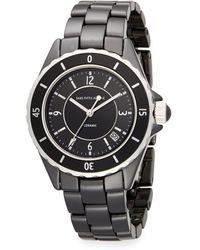Saks Fifth Avenue Ceramic Round Rotating Bezel Watch - Black