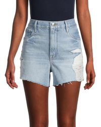 FRAME Women's Ultra Baggy Denim Shorts - Blue - Size 25 (2)