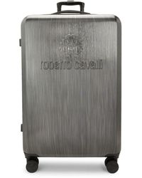Roberto Cavalli 30.5-inch Expandable Spinner Suitcase - Grey