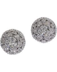 Effy Snowflake 0.54 Tcw Diamond And 14k White Gold Stud Earrings - Multicolor