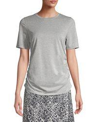 Elie Tahari Laon Ruched T-shirt - Gray