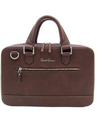 Robert Graham Men's Buster I Faux Leather Briefcase - Brown