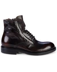 Jo Ghost Shearling-lined Leather Boots - Black