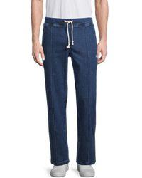 Champion Men's Denim Drawstring Pants - Dungaree - Size Xl - Blue