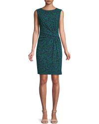 Anne Klein - Printed Sleeveless Dress - Lyst