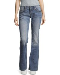 Miss Me - Saddle Stitch Faded Jeans - Lyst