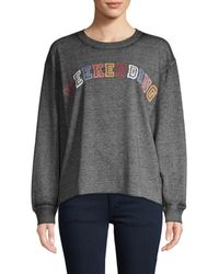 C&C California Women's Graphic Cotton-blend Top - Gray - Size L