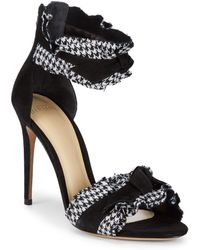 Alexandre Birman - Ruched Leather Stiletto Sandals - Lyst