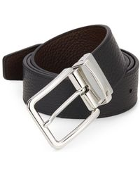 Saks Fifth Avenue - Reversible Pebbled Leather Belt - Lyst