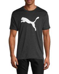 PUMA Men's Heather Cat Dry Cell T-shirt - Black - Size S
