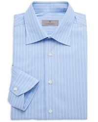 Canali Modern-fit Pinstriped Dress Shirt - Blue