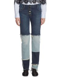 Each x Other Patchwork Cotton Jeans - Blue