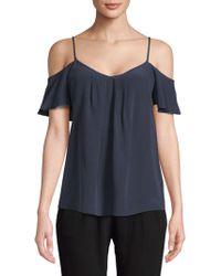 f7c26dda8cf7da Joie - Adorlee Cold-shoulder Silk Top - Lyst