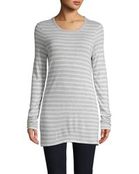 T By Alexander Wang Striped Long-sleeve Top - Grey