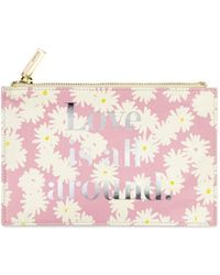 Kate Spade Love Is All Around 8-piece Bridal Pencil Pouch Set - Pink
