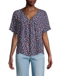 Madewell Rhyme Blouse Top - Blue