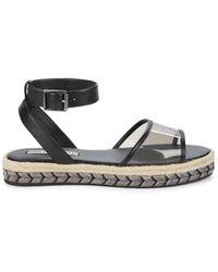 Karl Lagerfeld Women's Adalina Transparent Sandals - Black - Size 9