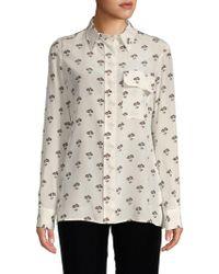 fb5cb4b0799a5 Victoria Beckham - Silk Daisy-print Shirt - Lyst