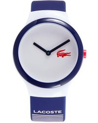Lacoste Goa Resin, Stainless Steel & Silicone-strap Watch - Blue
