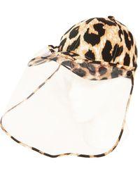 Bindya Animal-print Face Shield Ball Cap - Brown