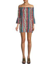 Trina By Trina Turk - Swing Bell-sleeve Floral Dress - Lyst