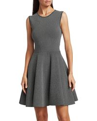 Akris Punto Geo Knit Fit-&-flare Dress - Black