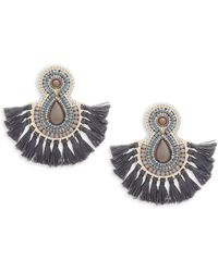Natasha Couture - Tassle Fan Earrings - Lyst