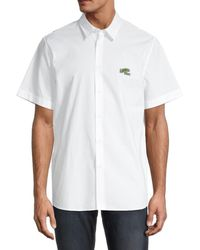 Lacoste Men's Short-sleeve Shirt - White - Size 44 (17.5)