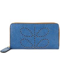 Orla Kiely - Textured Leather Continental Wallet - Lyst