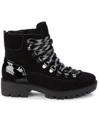 Kendall + Kylie Women's Eon Suede & Patent Leather Combat Boots - Black - Size 5