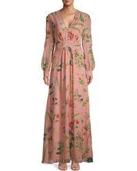Oscar de la Renta Botanical-print Silk Maxi Dress - Multicolour