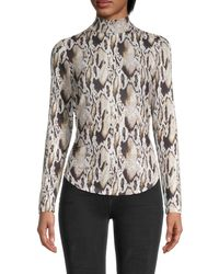 French Connection Snakeskin-print Top - Multicolour