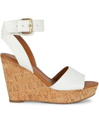 Tommy Hilfiger Maya Cork Wedge Heel Sandals - Brown