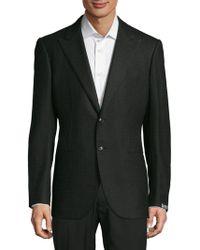 Saks Fifth Avenue - Peak Lapel Oxford Wool Blazer - Lyst