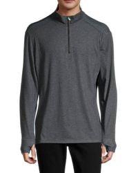 Tommy Bahama Men's Palm Valley Quarter Zip Sweater - Black Heather - Size Xxl